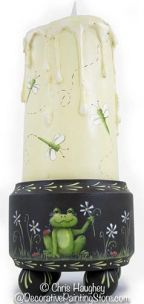 Frog Candleholder & Dragonfly Candle Pattern BY DOWNLOAD