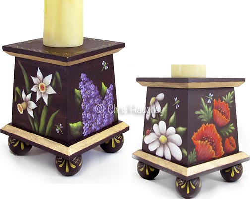 Floral Candle Stand e-Pattern DOWNLOAD