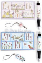 Spring & Easter Checkbook Covers & Photo Pen Inserts & Phone Charms e-Pattern DOWNLOAD