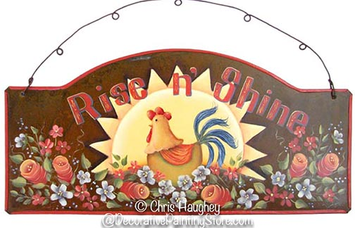 Rise n Shine Chicken Plaque Pattern BY DOWNLOAD