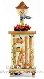 Fall Scarecrow Candleholder Pattern DOWNLOAD