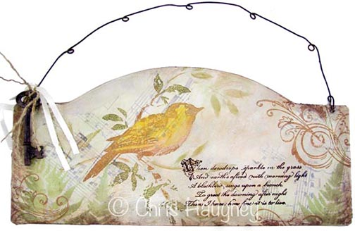 Birdsong Mixed Media Sign e-Pattern DOWNLOAD