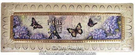 I love Paris Tin Plaque Pattern BY DOWNLOAD