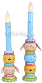 Easter De Lights Candlesticks e-Pattern DOWNLOAD