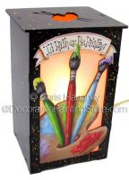 Id Rather Be Painting Lantern ePattern - Chris Haughey - PDF DOWNLOAD