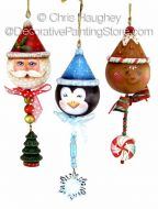 Christmas Dangler Buddy Ornaments ePattern - Chris Haughey - PDF DOWNLOAD