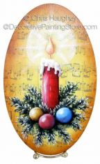 Christmas Candle Plaque ePattern - Chris Haughey - PDF DOWNLOAD