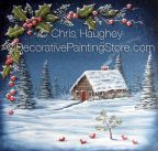 Winter Retreat Plaque ePattern - Chris Haughey - PDF DOWNLOAD