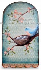 Joyful Bluebird Plaque ePattern - Chris Haughey - PDF DOWNLOAD