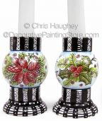 Christmas Tangles Candlestick ePattern - Chris Haughey - PDF DOWNLOAD