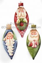 Ho, Ho, Ho Santa Ornament ePattern - Chris Haughey - PDF DOWNLOAD