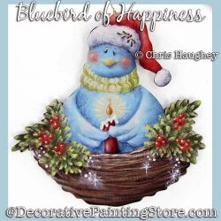 Bluebird of Happiness Ornament Painting Pattern DOWNLOAD - Chris Haughey