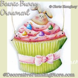 Beanie Bunny Ornament Painting Pattern DOWNLOAD - Chris Haughey