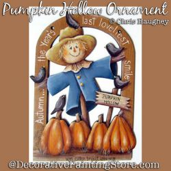 Pumpkin Hollow Ornament Painting Pattern DOWNLOAD - Chris Haughey