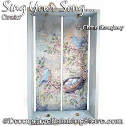 Sing Your Song Crate Painting Pattern DOWNLOAD - Chris Haughey