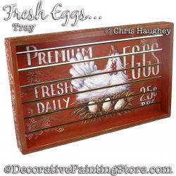 Fresh Eggs Tray Painting Pattern DOWNLOAD - Chris Haughey