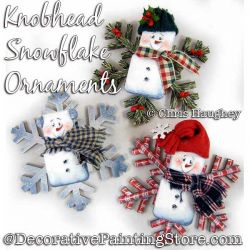 Knobhead Snowflake Ornaments Painting Pattern DOWNLOAD - Chris Haughey