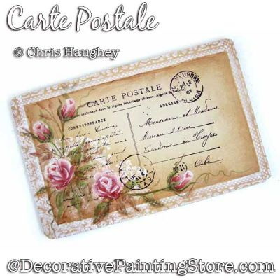 Carte Postale Ornament Painting Pattern DOWNLOAD - Chris Haughey