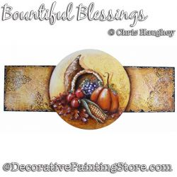Bountiful Blessings Plaque Painting Pattern DOWNLOAD - Chris Haughey