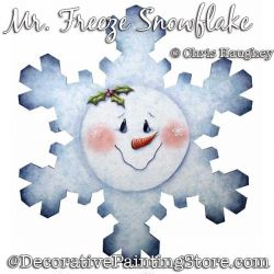 Mr Freeze Snowflake Plaque Painting Pattern DOWNLOAD - Chris Haughey