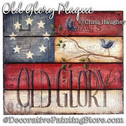 Old Glory Plaque Painting Pattern DOWNLOAD - Chris Haughey