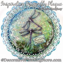 Inspiration Dragonfly Plaque Painting Pattern DOWNLOAD - Chris Haughey