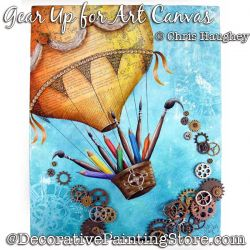 Gear Up for Art Canvas Painting Pattern DOWNLOAD - Chris Haughey
