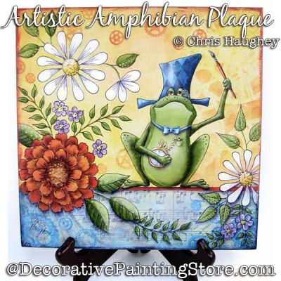 Artistic Amphibian Plaque Painting Pattern DOWNLOAD - Chris Haughey