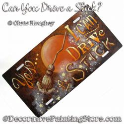Can You Drive a Stick Plaque Painting Pattern DOWNLOAD - Chris Haughey