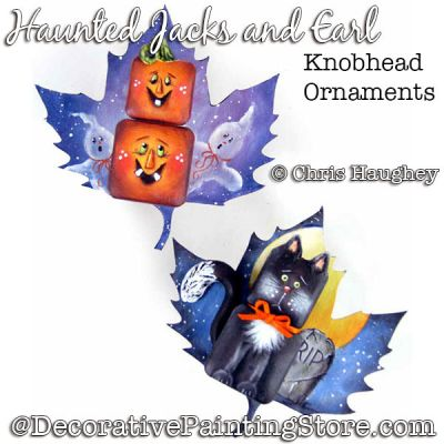 Haunted Jacks and Earl Knobhead Ornaments  Painting Pattern DOWNLOAD - Chris Haughey