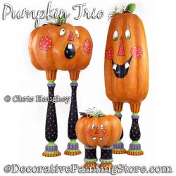 Pumpkin Trio  Painting Pattern DOWNLOAD - Chris Haughey