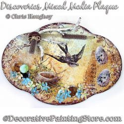 Discoveries Mixed Media Plaque Painting Pattern DOWNLOAD - Chris Haughey