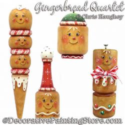 Gingerbread Quartet Painting Pattern DOWNLOAD - Chris Haughey