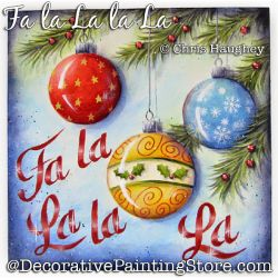 Fa la La la La Painting Pattern DOWNLOAD - Chris Haughey