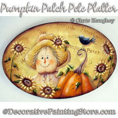 Pumpkin Patch Pete Platter (Scarecrow) Painting Pattern DOWNLOAD - Chris Haughey