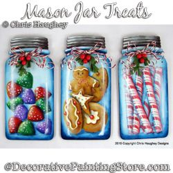 Mason Jar Treats Ornaments Painting Pattern DOWNLOAD - Chris Haughey