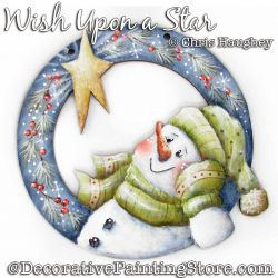 Wish Upon a Star Snowman Ornament Painting Pattern DOWNLOAD - Chris Haughey
