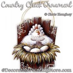 Country Chick Ornament (Chicken) Ornament Painting Pattern DOWNLOAD - Chris Haughey