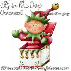 Elf in the Box Ornament Ornament Painting Pattern DOWNLOAD - Chris Haughey
