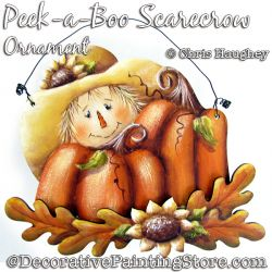 Peek-a-Boo Scarecrow Ornament Painting Pattern DOWNLOAD - Chris Haughey