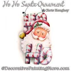 Ho Ho Santa Ornament Painting Pattern DOWNLOAD - Chris Haughey