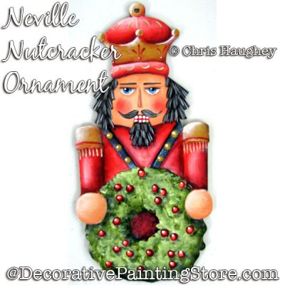 Neville Nutcracker Ornament Painting Pattern DOWNLOAD - Chris Haughey