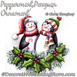 Peppermint Penguin Ornament Painting Pattern DOWNLOAD - Chris Haughey
