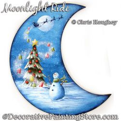 Moonlight Ride Plaque Painting Pattern DOWNLOAD - Chris Haughey