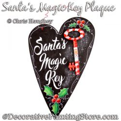 Santas Magic Key Plaque Painting Pattern DOWNLOAD - Chris Haughey