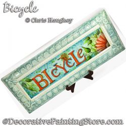 Bicycle Plaque Painting Pattern DOWNLOAD - Chris Haughey
