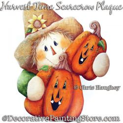 Harvest Time Scarecrow Plaque Painting Pattern DOWNLOAD - Chris Haughey