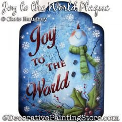 Joy to the World Snowman Plaque Painting Pattern DOWNLOAD - Chris Haughey