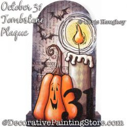 October 31 Plaque Painting Pattern DOWNLOAD - Chris Haughey