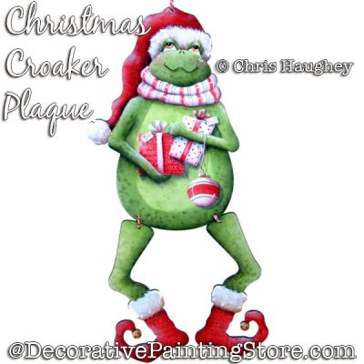 Christmas Croaker (Frog) Plaque Painting Pattern DOWNLOAD - Chris Haughey